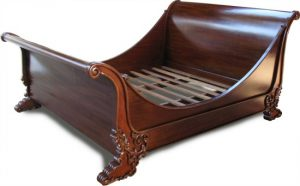 French Brodsworth Sleigh Bed