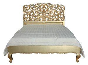 Gold Bed - Gold La Rochelle Rococo Bed