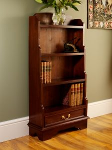 Solid Mahogany Bookcases - Waterfall Bookcase