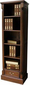 Solid Mahogany Tall Narrow Bookcase