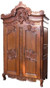 French Wedding Mahogany Armoires