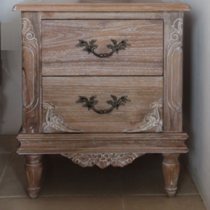 Belle french weathered bedside table