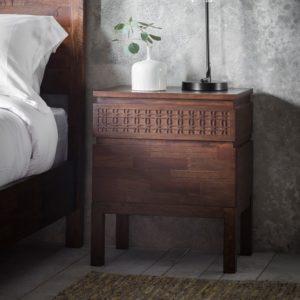 Frank Hudson Boho Retreat Bedside 2 Drawer Chest