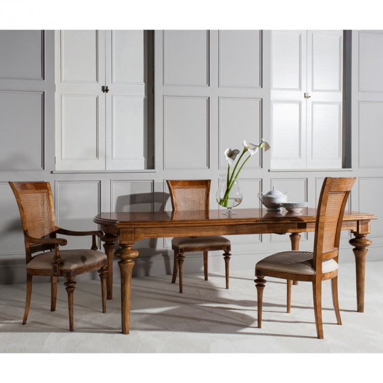 Classic Walnut Furniture Top10 - No 8 -Spire Walnut Dining Table with Arm and Side Chairs