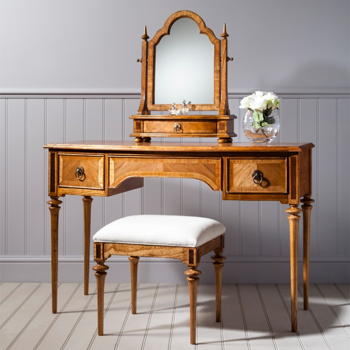 Classic Walnut Furniture Top 10 - No 4 - Walnut Dressing Table from the Frank Hudson Spire Range