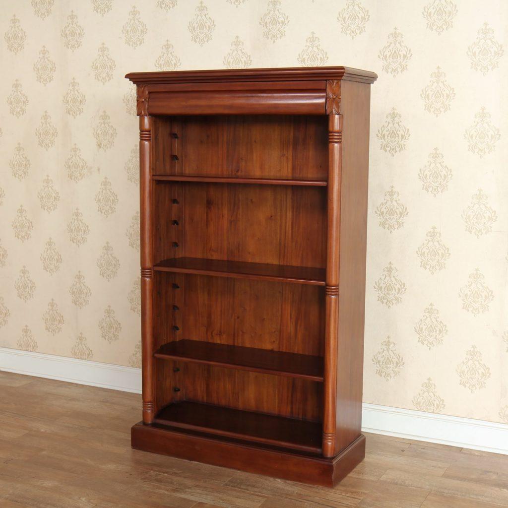 Mahogany Office Furniture: Medium Mahogany Bookcase with 3 shelves