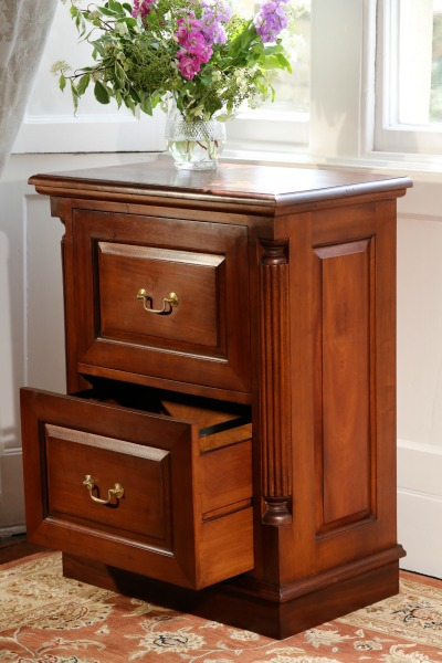 Mahogany Office Furniture: Mahogany Filing Cabine with 2 drawers