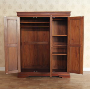 Declutter your Home: Louis Philippe Mahogany Triple Wardrobe