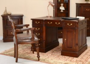 Declutter your Home: Mahogany Pedestal Desk and Filing Cabinet