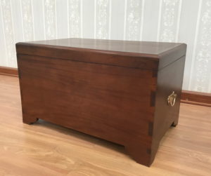 Declutter your home: Mahogany Blanket Box