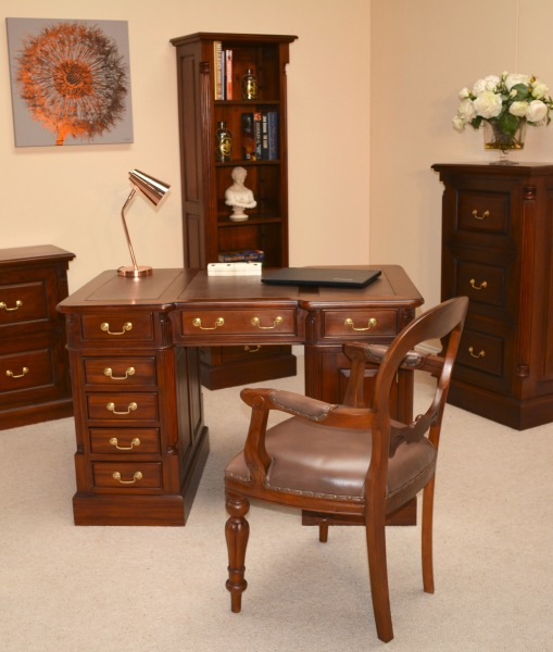Working from Home 5 Top Tips - Mahogany office furniture
