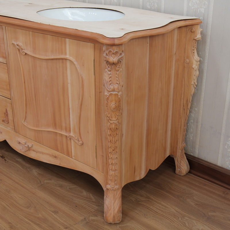 Ornate Vanity Unit: Carving Detail